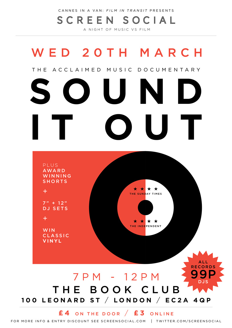 20.03.13 Screen Social: Sound It Out 7″ special